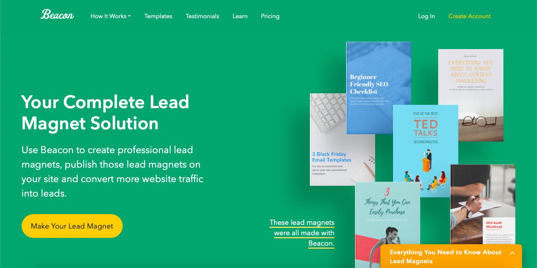 Beacon homepage