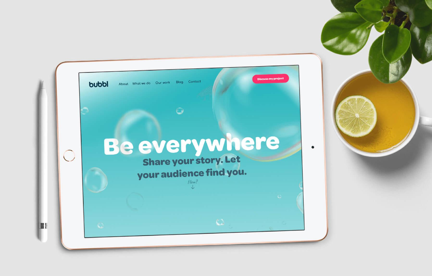 Bubbl case study - MWB create bespoke responsive website design and development