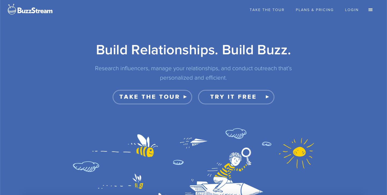 BuzzStream homepage