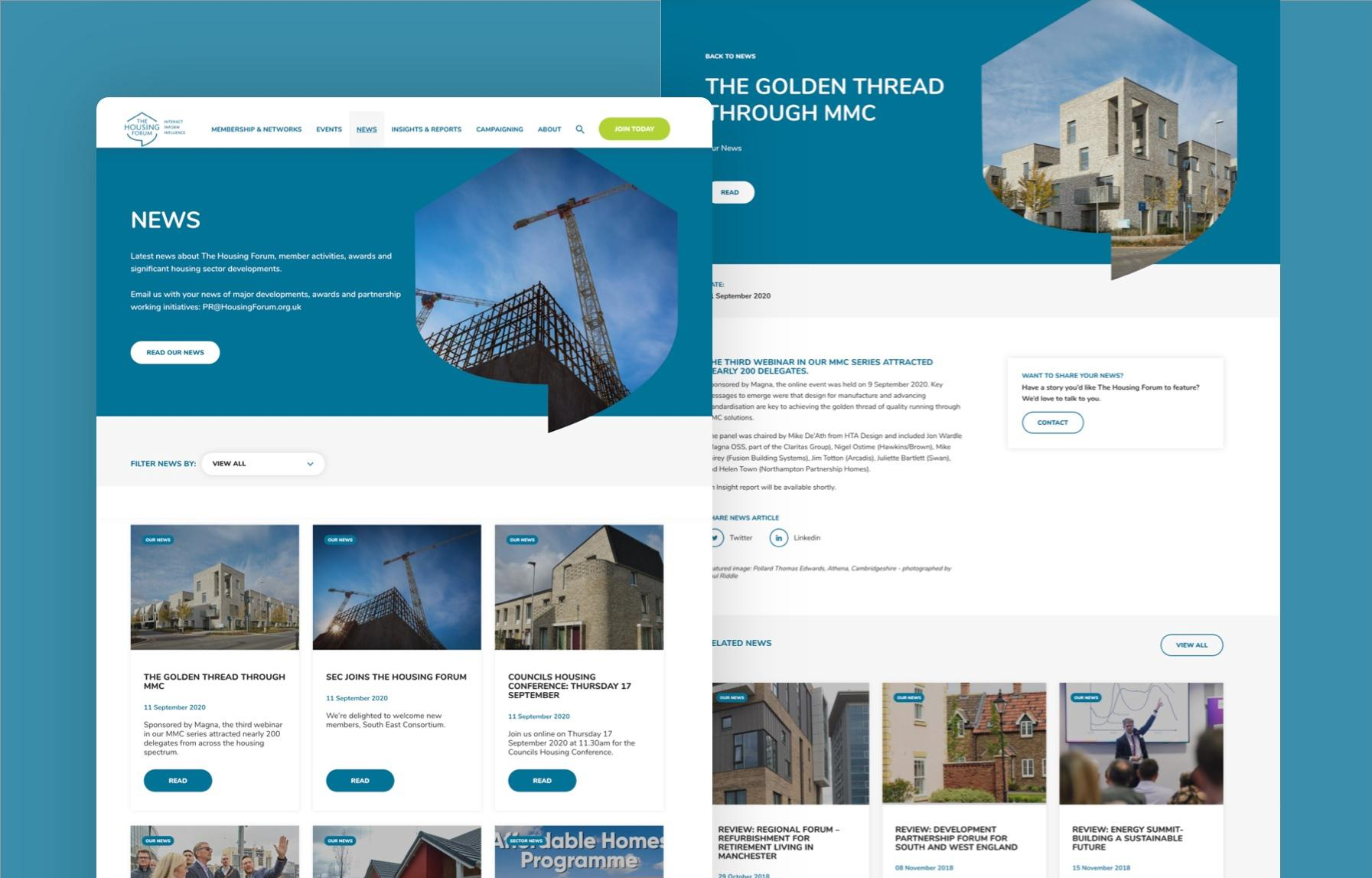 MWB create a new website for THF