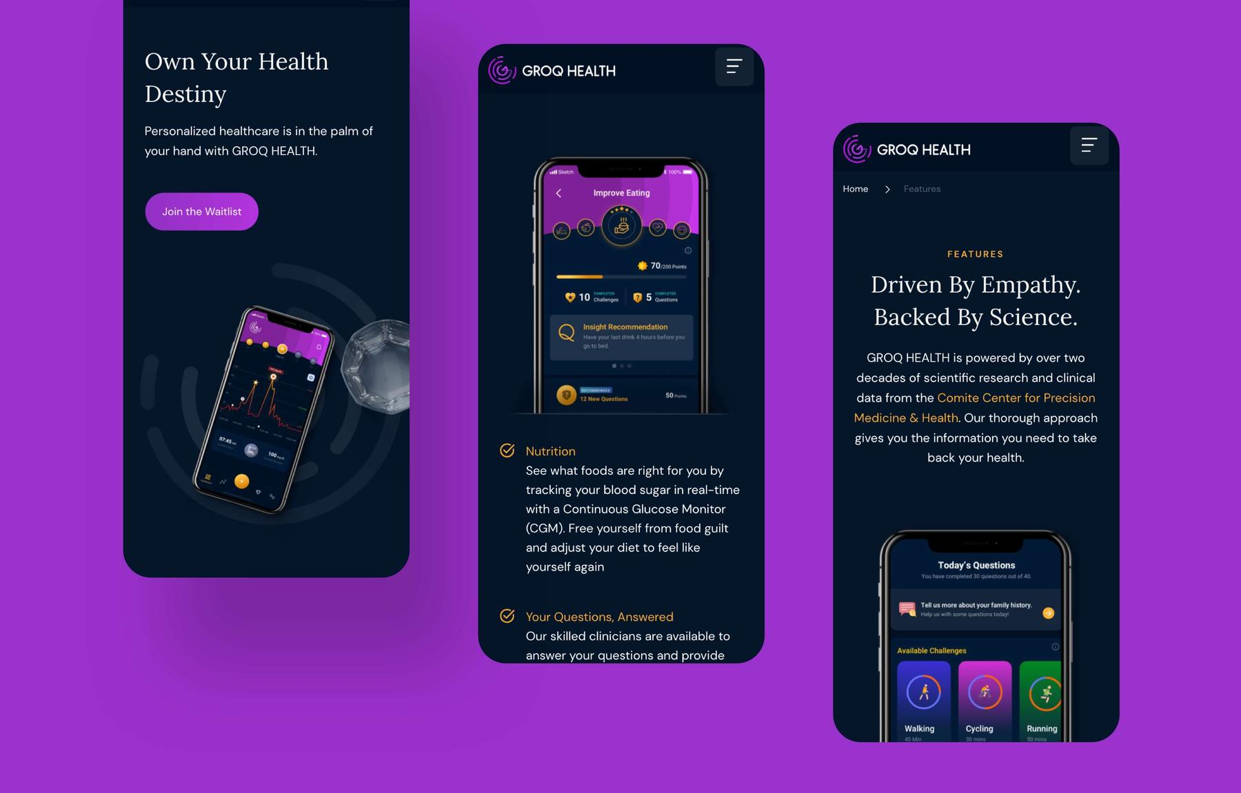 MWB create a new website for GROQ HEALTH