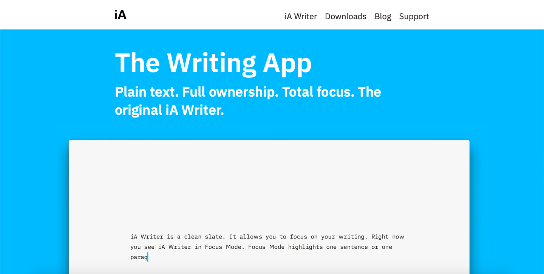 iA Writer homepage