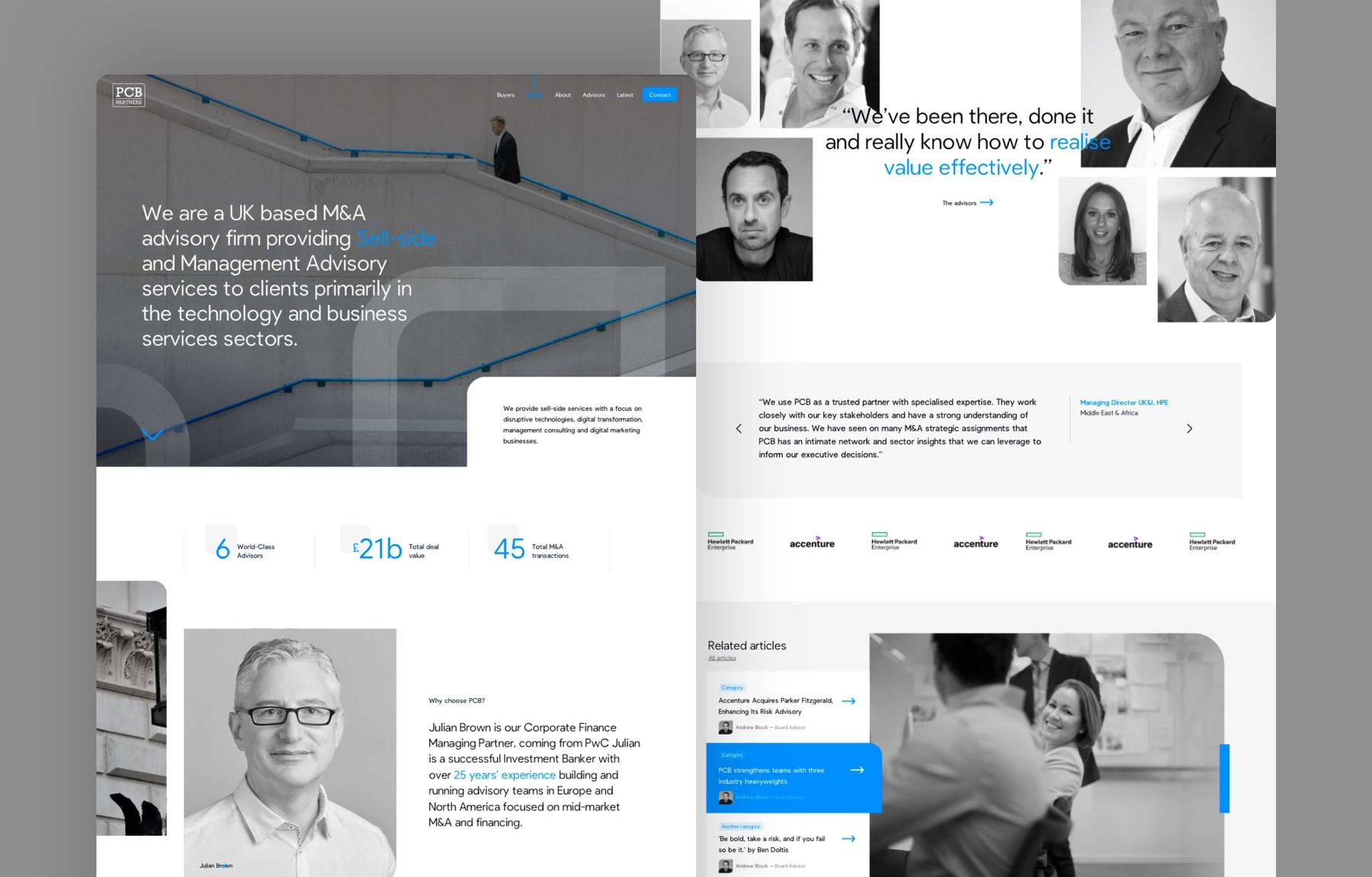 MWB bespoke website planning and UX