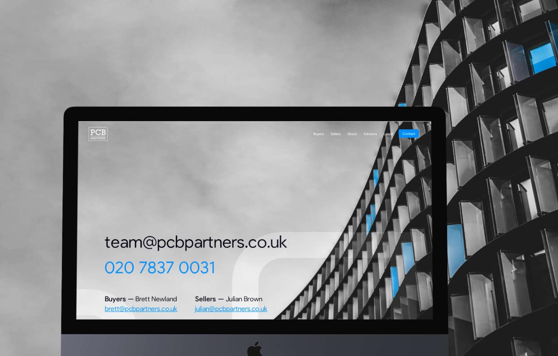 PCB partners case study - MWB create bespoke responsive website design and development