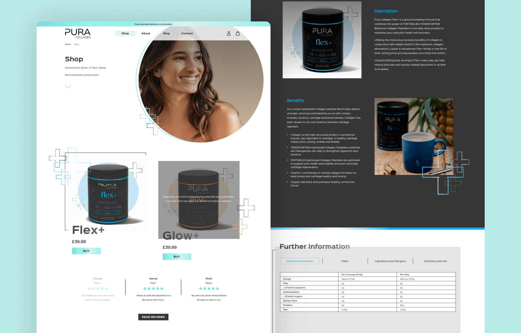 MWB create a new website for Pura Collagen
