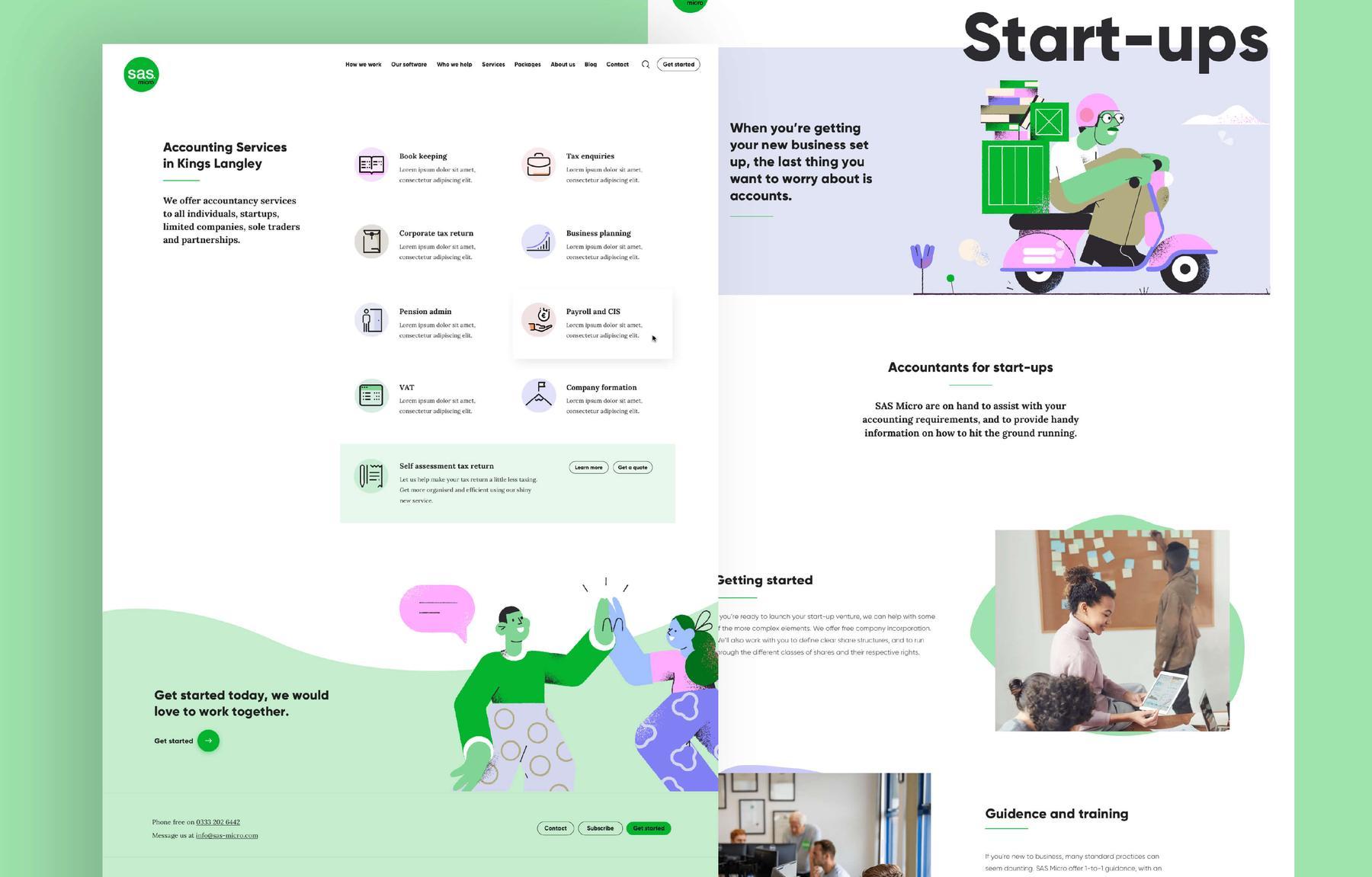 SAS Micro bespoke website