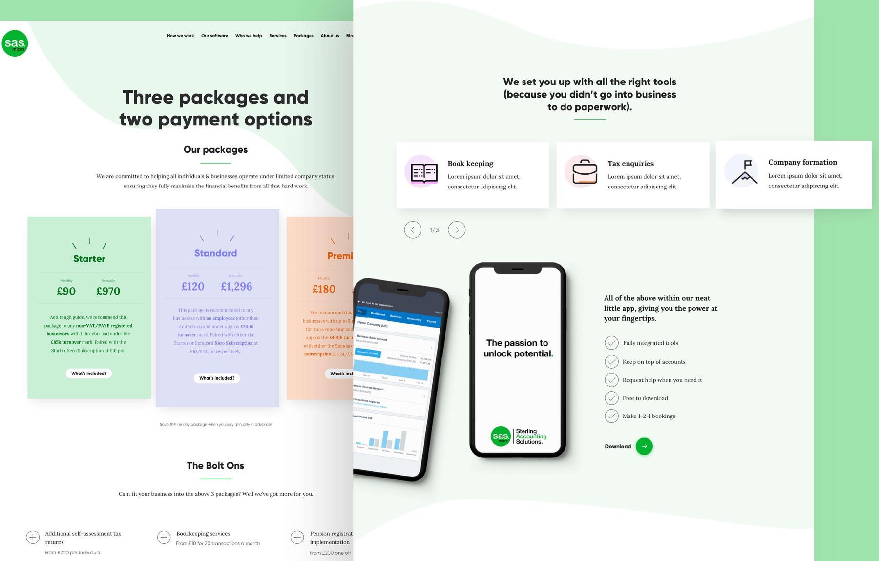 SAS Micro case study - MWB create bespoke responsive website design and development