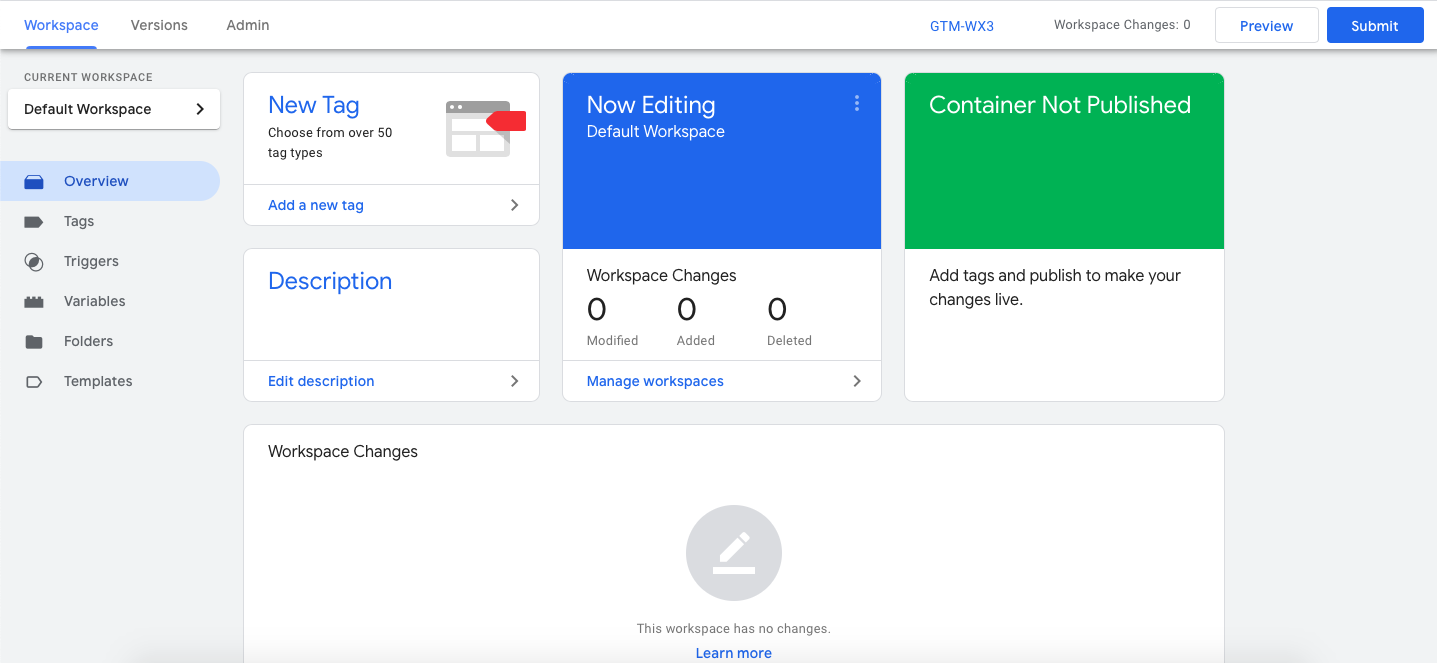Tag Manager Dashboard